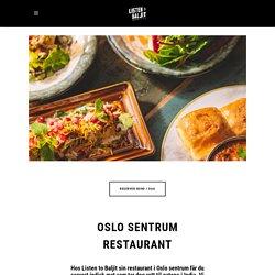 Oslo sentrum restaurant