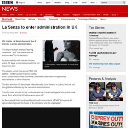 La Senza to enter administration in UK - BBC News