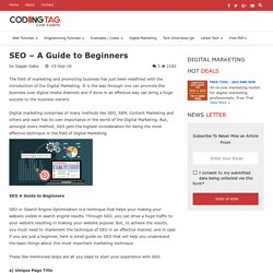 SEO A Guide to Beginners