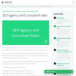 SEO agency and consultant rates