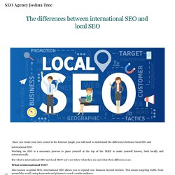 The differences between international SEO and local SEO