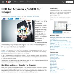 SEO for Amazon v/s SEO for Google