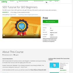 SEO Tutorial for SEO Beginners