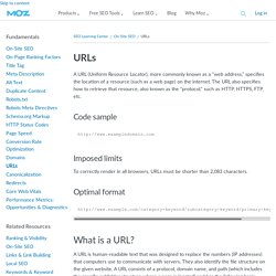 SEO best practices for URLs