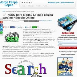 SEO para Blogs: La guía básica