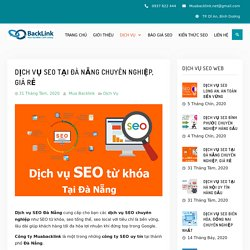 Dịch vụ SEO tại Đà Nẵng chuyên nghiệp, giá rẻ ⋆ Muabacklink.net