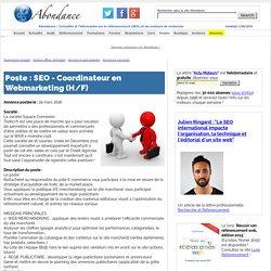 SEO - Coordinateur en Webmarketing (H/F)