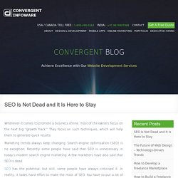 SEO Is Not Dead and It Is Here to Stay