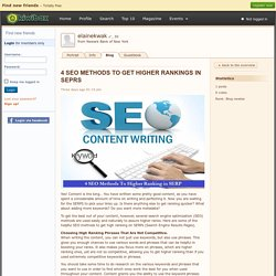 4 SEO METHODS TO GET HIGHER RA…