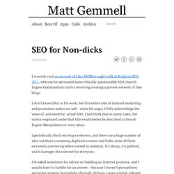 SEO for Non-dicks
