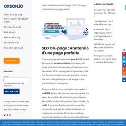 SEO On-page : Anatomie d'une page web parfaite