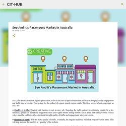 Seo And It's Paramount Market In Australia