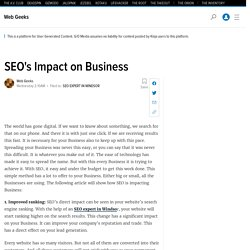 SEO's Impact on Business