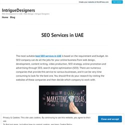 SEO Services in UAE