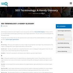 SEO Terminology: A Handy Glossary