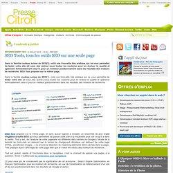SEO Tools, tous les outils SEO sur une seule page