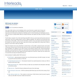 » SEO tools, for starters - SEO Software for Professionals from Interleado