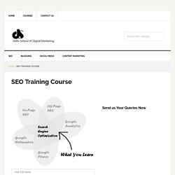 SEO Training in Delhi NCR : On-Page/Off-Page SEO Course
