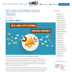 SEO and Upcoming Digital Trends