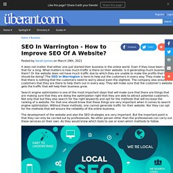 SEO In Warrington - How to Improve SEO Of A Website?