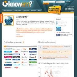 seobounty on Knowem