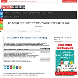 Télécharger la CheckList SEOConseilsMarketing.fr