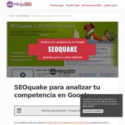 SEOquake para el análisis de la competencia en Google