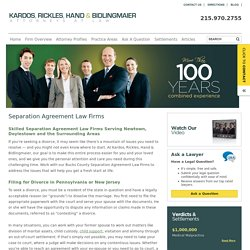 Separation Agreement Law Firms