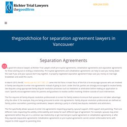 Separation Agreements Lawyer