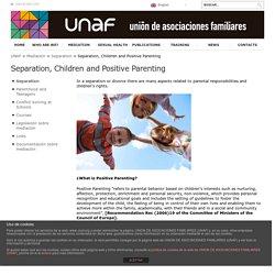 Separación, hijos y parentalidad positiva