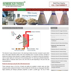 Natural Gas Separation Molecular Sieve Desiccants