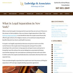 What Is Legal Separation in New York?