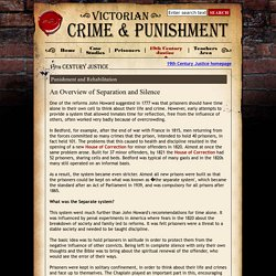 An Overview of Separation and Silence - Victorian Crime and Punishment from E2BN