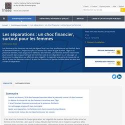 Les séparations: un choc financier, surtout pour les femmes - Insee Analyses Nouvelle-Aquitaine - 64