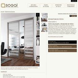 """Dressing & Porte Placard SOGAL : modèle de Séparations de pièces """"Sogalslide® TL"""""""
