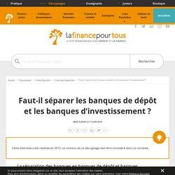 Banques de dépôt et d'investissement