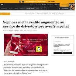 Sephora met la réalité augmentée au service du drive-to-store avec Snapchat