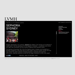 Sephora launches on the Australian market - LVMH News