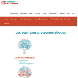 Les sept axes programmatiques - JLM 2017