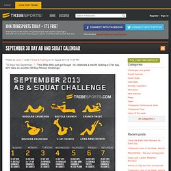 September 30 Day Ab and Squat Calendar