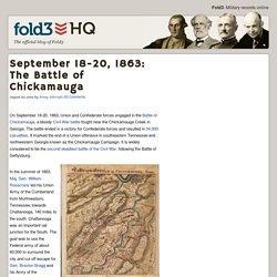 September 18-20, 1863: The Battle of Chickamauga