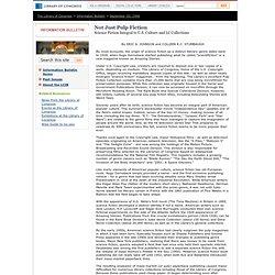 Not Just Pulp Fiction (September 30, 1996) - Library of Congress Information Bulletin