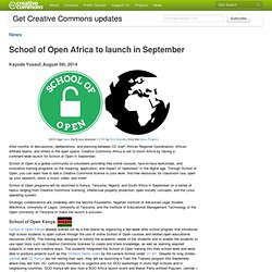 School of Open Africa to launch in September