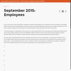 September 2015: Employees – Zimbabwe Farm Project