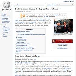 Rudy Giuliani during the September 11 attacks