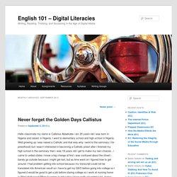 English 101 – Digital Literacies