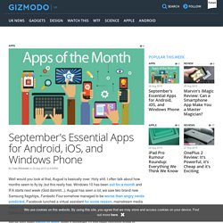 September's Essential Apps for Android, iOS, and Windows Phone