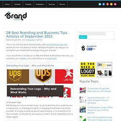 28 Best Branding and Business Tips Articles of September 2011