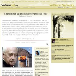 September 11: Inside Job or Mossad Job?, by Laurent Guyénot