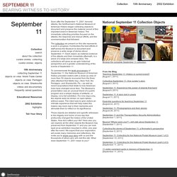 September 11: Bearing Witness to History - National Museum of American History